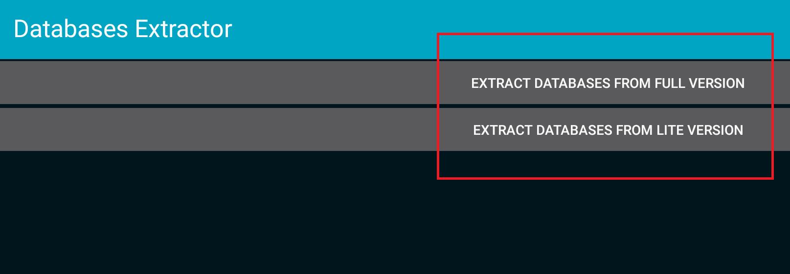 Database Extractor tool